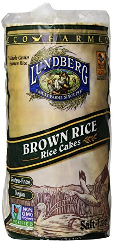 Rice Brown Cake (Lundberg Rice Cakes, Brown Rice, No Salt,  8.5 oz)