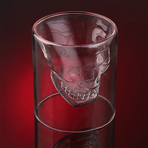 Kicode Halloween Skull Cup Wine Head Shot Glass Fun Creative Drinking Whisky Crystal Party Drinkware Transparent Four Sizes