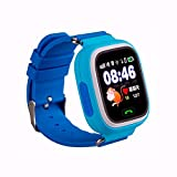 REDLEMON Smartwatch para Niños con Localizador GPS y Perímetro de Seguridad. Entrada para Chip Celular, Llamadas Bidireccionales y de Emergencia, Historial de Ubicaciones, Pantalla Touch, Batería Recargable de Larga Duración, Compatible con Android y iOS. Reloj Inteligente Kids, AZUL