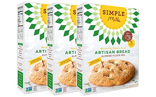 Simple Mills Almond Flour Mix, Artisan Bread, Naturally Gluten Free, 10.4 oz, 3 count (Ground Bread Mix)