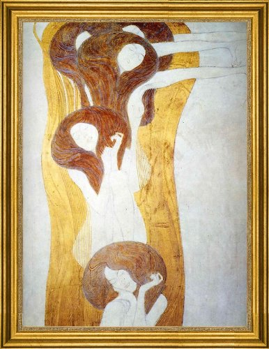 Art Oyster Gustav Klimt The Beethoven Frieze the Longing for Happiness Finds Repose in Poetry Right Wall - 21.1