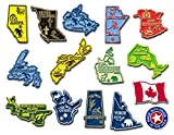 Complete Canadian Map Magnet Set