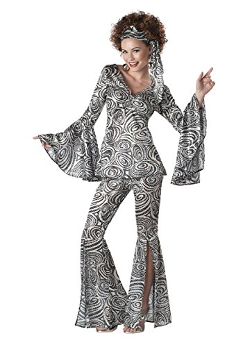 Plus Size Women's Foxy Lady Disco Dance Groovy Costume 2X]()