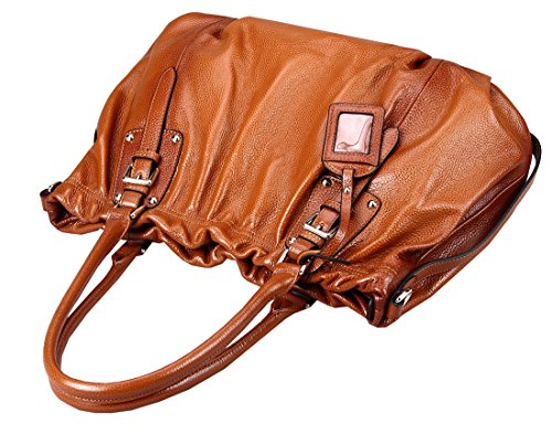 Purse Work Heshe Leather Sorrel Bag Top for Handle Woman Handbags Totes z7qwBAzO