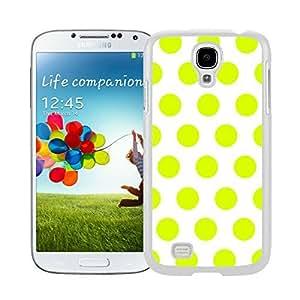 Lmf DIY phone caseBINGO Slim fit Polka Dot White and Turquoise Watercolor Samsung Galaxy S4 i9500 Case White CoverLmf DIY phone case