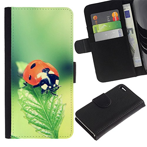 EuroCase - Apple Iphone 4 / 4S - The Ladybug - Cuir PU Coverture Shell Armure Coque Coq Cas Etui Housse Case Cover