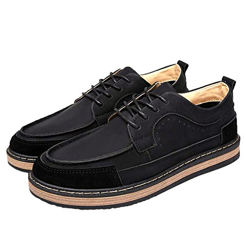 Dear Time Men Lace Up Vintage Logging Shoe Black aypbcG