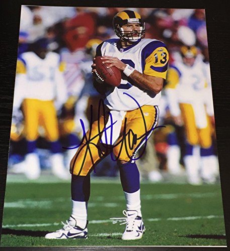 Autographed Kurt Warner Photograph - QB LEGEND 11x14 COA B - Autographed NFL Photos