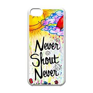 YUAHS(TM) Phone Case for Iphone 5C with Never Shout Never YAS367710