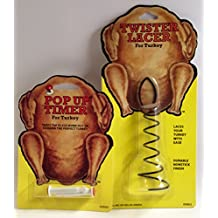 Heuck Turkey Pop Up Timer & Twister Lacer Bundle Kit Combo Pack for Poultry Chicken Duck
