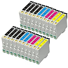 Ink & Toner Geek ® - 20 Pack Remanufactured Replacement Inkjet Cartridges for Epson T060 60 #60 (T060120, T060220, T060320, T060420) For Use With Epson Stylus C68 Stylus C88 Stylus C88Plus Stylus CX3800 Stylus CX3810 Stylus CX4200 Stylus CX4800