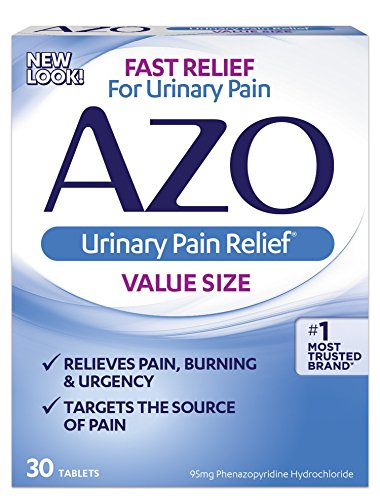 Standard Ingredients Azo - AZO Urinary Pain Relief Value Size |with Phenazopyridine Hydrochloride |Fast Relief | Relieves UTI Pain,Burning & Urgency | Targets the Source of Pain | #1 Most Trusted Brand | 30 Tablets | Pack of 3