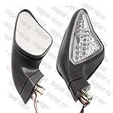 FidgetFidget Turn Signal Lights Rearview Mirrors for Ducati 848 1098 1098S 1098R 1198/S 1198R