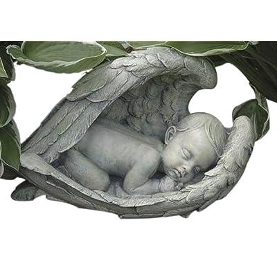 Joseph Studio 11276 Wide Sleeping Baby in Wings Garden Statue, 15-Inch : Outdoor Statues : Garden & Outdoor