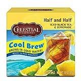 Celestial Seasonings Half and Half Cool Brew Iced Tea & Lemonade, 40 Count (Pack of 6)