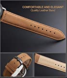 Mens-Unique-Analog-Quartz-Waterproof-Business-Casual-Leather-Band-Dress-Wrist-Watch-with-Simple-Fashion-Classic-White-Time-Mark-Design-Key-Scrath-Resitant-Face-98FT-30M-Water-Resistant-White