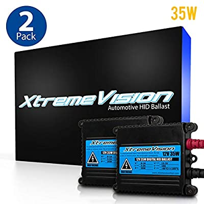 XtremeVision DC 35W HID Xenon Premium Slim Ballast (Pair - 2 PCS) - 2 Year Warranty: Automotive [5Bkhe2013736]