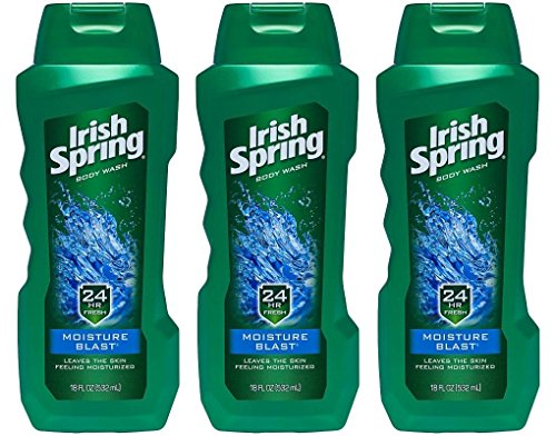 Irish Spring Body Wash, Moisture Blast, 18 Ounce (Pack of 3)