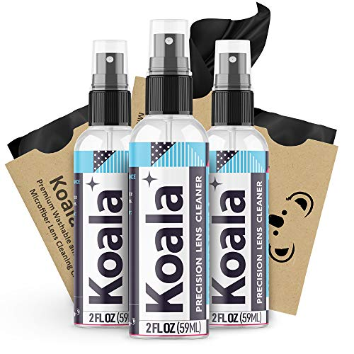 Koala Eyeglass Lens Cleaner Spray Kit | American Made | 6 Ounces + 3 Koala Cloths | Streak and Alcohol Free | Carefully…