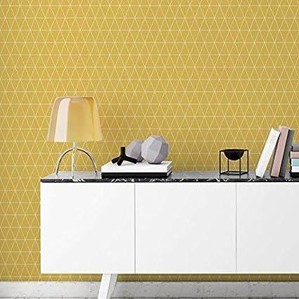 Graham Brown  Triangolin Mustard Wallpaper Yellow