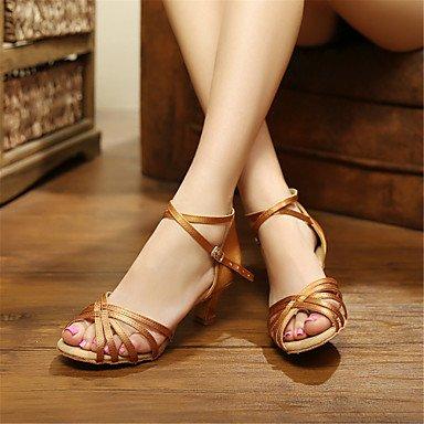 Damen Satin Dance Schuhe für Latin/Ballsaal Sandalen (mehr Farben)