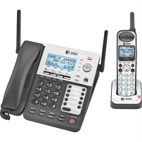 SynJ SB67138 4-Line Corded/Cordless Small Business System by AT&T