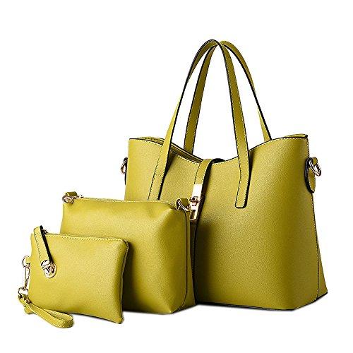 Señoras Mujere Moda Gran Hombro 1 Oficina Totalizador DELEY De Mensajero 3 Verde Bolso In Elegante Capacidad Maletín Bolsos ASRgxd