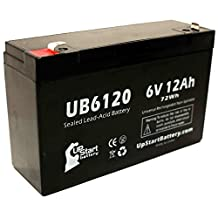 UB6120 Universal Sealed Lead Acid Battery (6V, 12Ah, F1 Terminal, AGM, SLA) Replacement - Compatible With Tripp-Lite SMART500RT1U, OMNIVS1000, EMERSON 40, SAFE 400, 1000