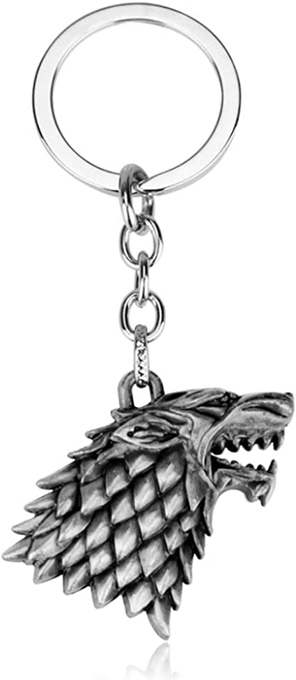 Game of Thrones Themed Keychain Stark Direwolf Keychain