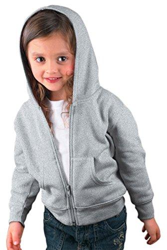 Rabbit Skins Toddler's 7.5 Oz. Full-Zip Fleece Hood, 5/6, Heather