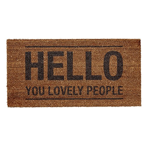 Bloomingville Coir Door Mat Hello You Lovely People