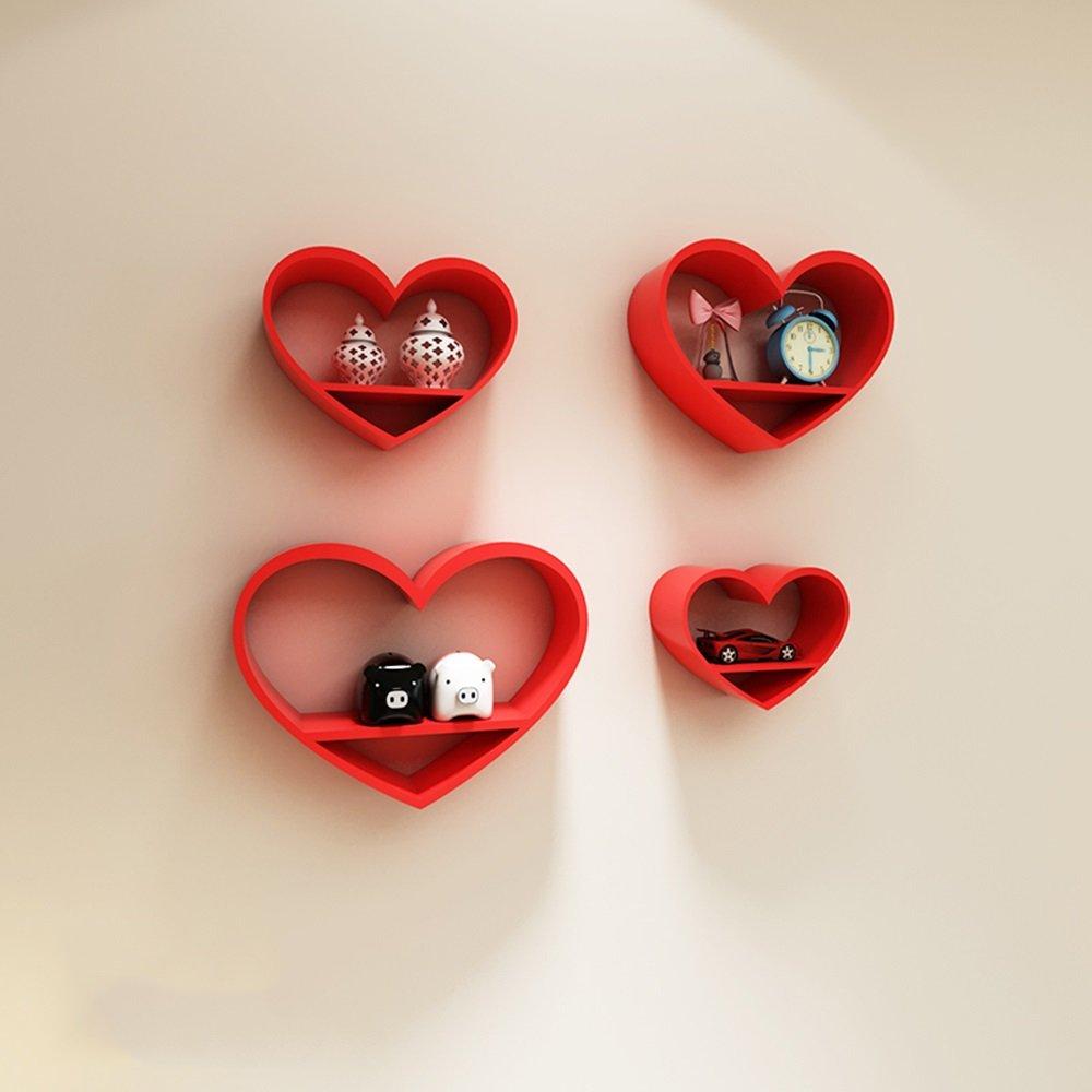 ALUK- Herzförmige Trennwände, Wohnzimmer Wandgestell, Wand-Schlafzimmer Wände, kreative Gitter (Stil : B)