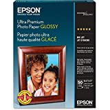 Epson Ultra Premium Photo Paper GLOSSY (8.5x11 Inches, 50 Sheets) (S042175)