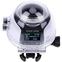 Domybest 360 Degree 4K Waterproof Panorama Action Camera Car Recorder DV(White)