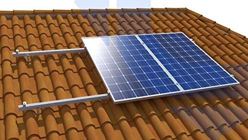 Struktur placaa Solar Alu Dach perforante Solar Panel Structure für 1Platte