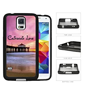 California Love with Beach Scene and Pink Sky Sunset Hard pc Cell Phone Case Cover Samsung Galaxy S5 I9600