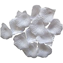 Dxhycc 1000pcs White Silk Rose Petals Artificial Flower Wedding Party Vase Decor Bridal Shower Favor Centerpieces