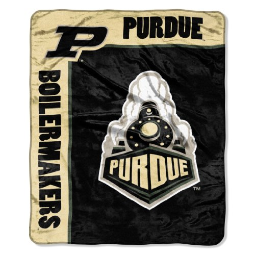 Officially Licensed NCAA Purdue Boilermakers School Spirit Plush Raschel Throw Blanket, 50