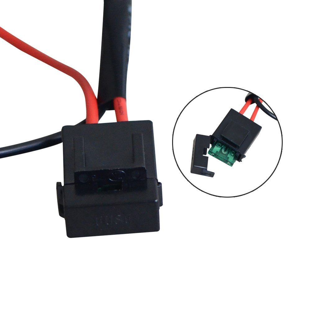 Simplive Led Light Bar Wiring Harness Off Road Power Relay 30 Amp Accessories 12v 40a Hid Driving Kit Fuse On Switch High Low Kits Amazon Canada