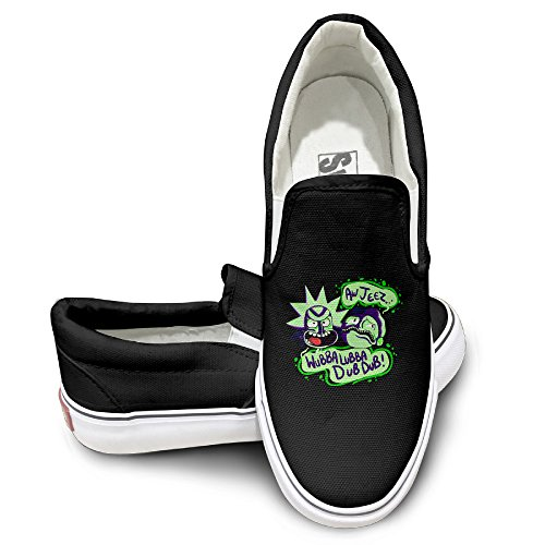 ewied-unisex-classic-rick-and-morty-slip-on-shoes-black-size43