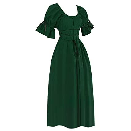 Amazon.com: Fauean Medieval Dress,WomenS Petal Sleeve ...
