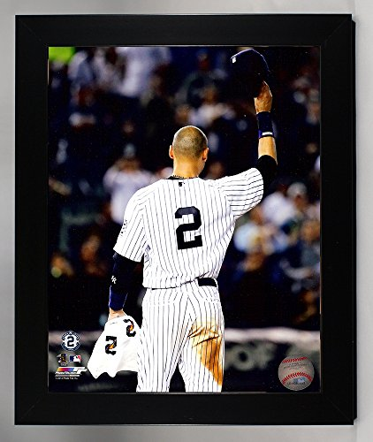 Framed New York Yankees Derek Jeter Tip Of The Cap. The Captain Tips His Cap One Last Time At Yankee Stadium 8x10 Photograph Picture. (Tip)