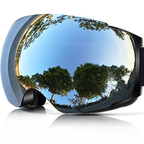 ZIONOR X4 Ski Snowboard Snow Goggles Magnet Dual Layers Lens Spherical Design Anti-fog UV Protection Anti-slip Strap for Men & Women