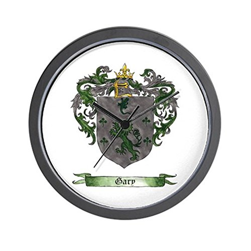 CafePress - Gary Shield Of Arms - Unique Decorative 10' Wall Clock