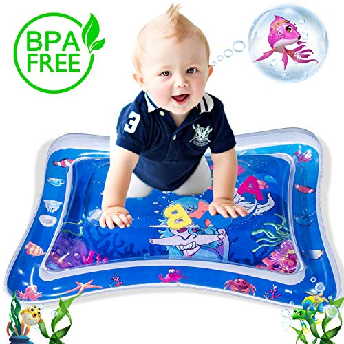 WETONG Tummy Time Inflatable Water Mat,The Perfect Infant Baby Toys for Early Development Activity Centers BPA Free Baby Play Mat Promotes Stimulation Growth