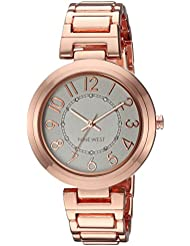 Nine West Womens NW/1892SVRG Easy To Read Rose Gold-Tone Bracelet Watch