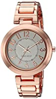 Nine West Women's Quartz Metal and Alloy Dress Watch, Color:Rose Gold-Toned