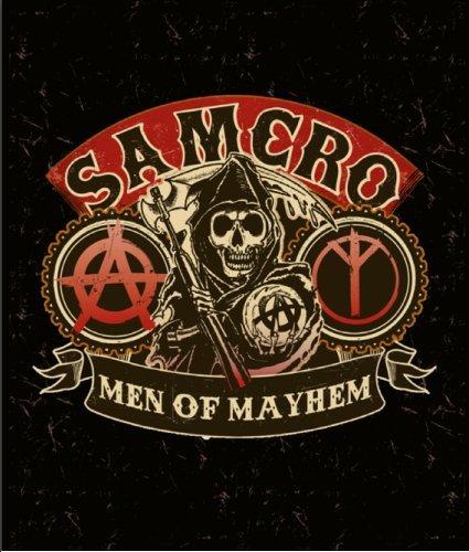 Sons Of Anarchy Luxury Plush Throw Raschel Blanket  Samcro Men Of Mayhem
