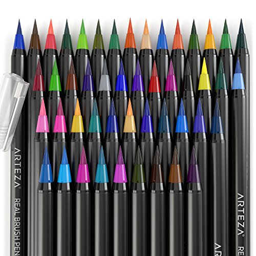 Arteza-Real-Brush-Pens-48-Colors-Watercolor-Markers-Set-of-48