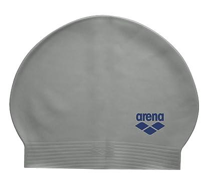 Arena Gorro de natación de látex Suave, Unisex, Silver/Navy ...